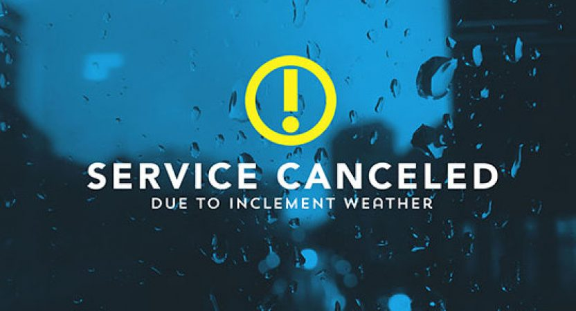 August 27th Services Canceled